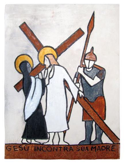 """""""Gesù incontra SUA Madre"""" Disegno su carta - Bozzetto"""