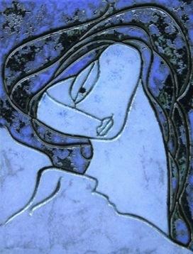 """""""Gesù e deposto dalla croce"""" Terracotta dipinta-Tavola completa"""