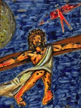 """""""Gesù e inchiodato in croce"""" Tavola completa"""